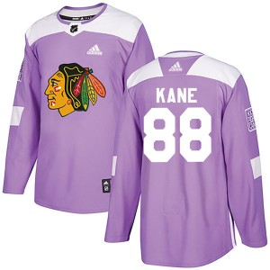 Youth Chicago Blackhawks Patrick Kane Adidas Authentic Fights Cancer Practice Jersey - Purple