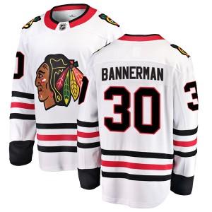 Men's Chicago Blackhawks Murray Bannerman Fanatics Branded Breakaway Away Jersey - White