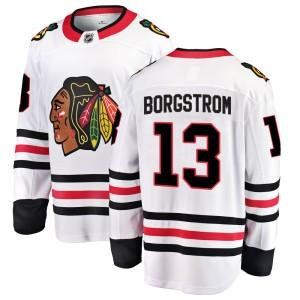 Men's Chicago Blackhawks Henrik Borgstrom Fanatics Branded Breakaway Away Jersey - White