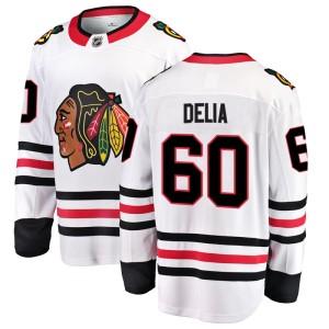 Men's Chicago Blackhawks Collin Delia Fanatics Branded Breakaway Away Jersey - White