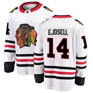 Men's Chicago Blackhawks Victor Ejdsell Fanatics Branded Breakaway Away Jersey - White