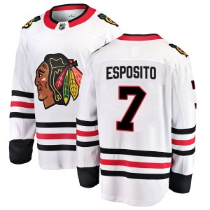 Men's Chicago Blackhawks Phil Esposito Fanatics Branded Breakaway Away Jersey - White