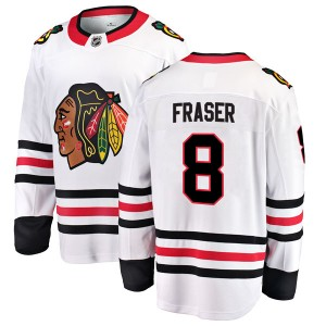 Men's Chicago Blackhawks Curt Fraser Fanatics Branded Breakaway Away Jersey - White