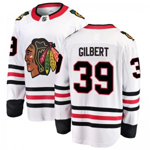 Men's Chicago Blackhawks Dennis Gilbert Fanatics Branded Breakaway Away Jersey - White