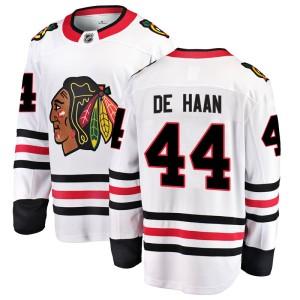 Men's Chicago Blackhawks Calvin de Haan Fanatics Branded Breakaway Away Jersey - White