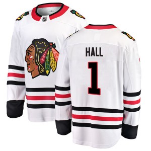 Men's Chicago Blackhawks Glenn Hall Fanatics Branded Breakaway Away Jersey - White