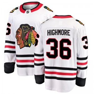 Men's Chicago Blackhawks Matthew Highmore Fanatics Branded Breakaway Away Jersey - White