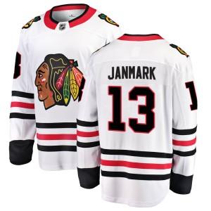 Men's Chicago Blackhawks Mattias Janmark Fanatics Branded Breakaway Away Jersey - White