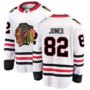 Men's Chicago Blackhawks Caleb Jones Fanatics Branded Breakaway Away Jersey - White