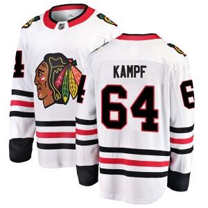 Men's Chicago Blackhawks David Kampf Fanatics Branded Breakaway Away Jersey - White