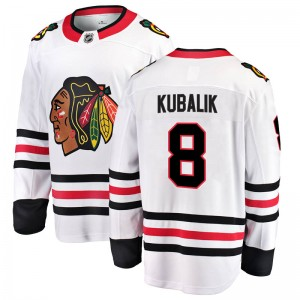 Men's Chicago Blackhawks Dominik Kubalik Fanatics Branded Breakaway Away Jersey - White