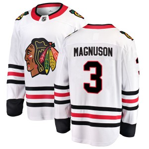 Men's Chicago Blackhawks Keith Magnuson Fanatics Branded Breakaway Away Jersey - White
