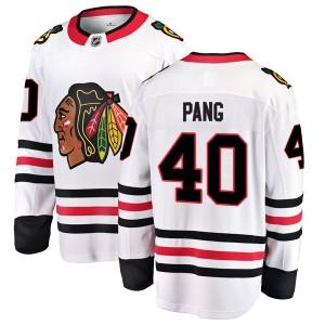 Men's Chicago Blackhawks Darren Pang Fanatics Branded Breakaway Away Jersey - White