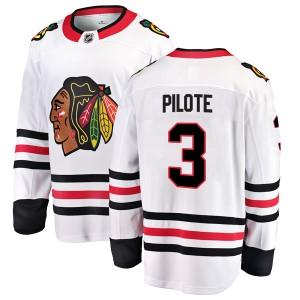 Men's Chicago Blackhawks Pierre Pilote Fanatics Branded Breakaway Away Jersey - White