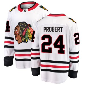 Men's Chicago Blackhawks Bob Probert Fanatics Branded Breakaway Away Jersey - White