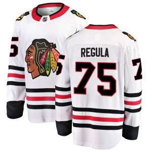 Men's Chicago Blackhawks Alec Regula Fanatics Branded Breakaway Away Jersey - White