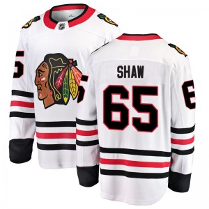 Men's Chicago Blackhawks Andrew Shaw Fanatics Branded Breakaway Away Jersey - White