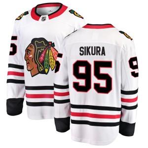 Men's Chicago Blackhawks Dylan Sikura Fanatics Branded Breakaway Away Jersey - White