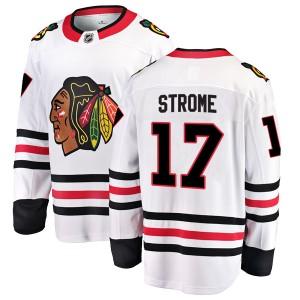 Men's Chicago Blackhawks Dylan Strome Fanatics Branded Breakaway Away Jersey - White