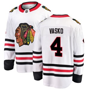 Men's Chicago Blackhawks Elmer Vasko Fanatics Branded Breakaway Away Jersey - White