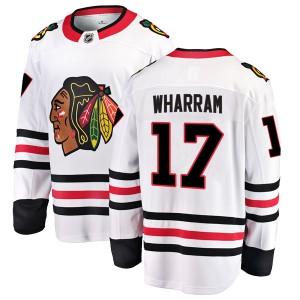Men's Chicago Blackhawks Kenny Wharram Fanatics Branded Breakaway Away Jersey - White