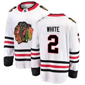 Men's Chicago Blackhawks Bill White Fanatics Branded Breakaway Away Jersey - White