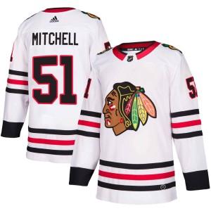 Youth Chicago Blackhawks Ian Mitchell Adidas Authentic Away Jersey - White