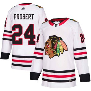 Youth Chicago Blackhawks Bob Probert Adidas Authentic Away Jersey - White