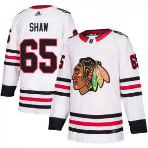 Youth Chicago Blackhawks Andrew Shaw Adidas Authentic Away Jersey - White
