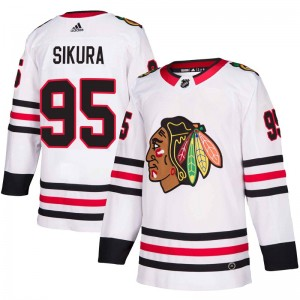 Youth Chicago Blackhawks Dylan Sikura Adidas Authentic Away Jersey - White