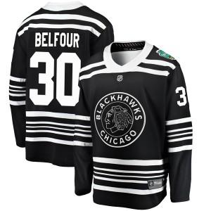 Men's Chicago Blackhawks ED Belfour Fanatics Branded 2019 Winter Classic Breakaway Jersey - Black