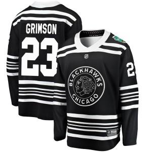 Men's Chicago Blackhawks Stu Grimson Fanatics Branded 2019 Winter Classic Breakaway Jersey - Black