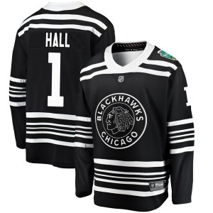 Men's Chicago Blackhawks Glenn Hall Fanatics Branded 2019 Winter Classic Breakaway Jersey - Black