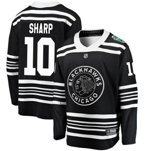 Men's Chicago Blackhawks Patrick Sharp Fanatics Branded 2019 Winter Classic Breakaway Jersey - Black