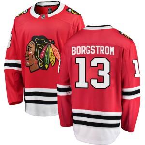 Youth Chicago Blackhawks Henrik Borgstrom Fanatics Branded Breakaway Home Jersey - Red