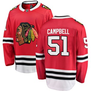 Youth Chicago Blackhawks Brian Campbell Fanatics Branded Breakaway Home Jersey - Red