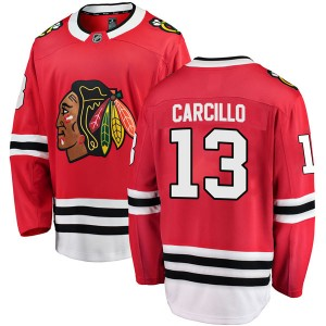 Youth Chicago Blackhawks Daniel Carcillo Fanatics Branded Breakaway Home Jersey - Red