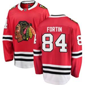 Youth Chicago Blackhawks Alexandre Fortin Fanatics Branded Breakaway Home Jersey - Red