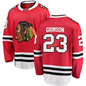 Youth Chicago Blackhawks Stu Grimson Fanatics Branded Breakaway Home Jersey - Red