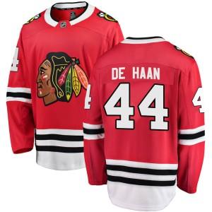 Youth Chicago Blackhawks Calvin de Haan Fanatics Branded Breakaway Home Jersey - Red