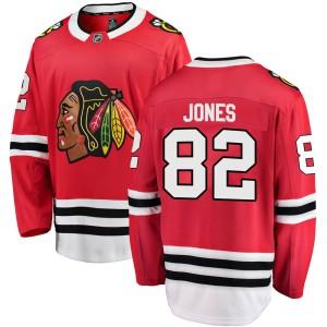 Youth Chicago Blackhawks Caleb Jones Fanatics Branded Breakaway Home Jersey - Red