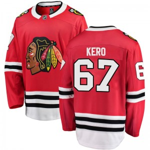 Youth Chicago Blackhawks Tanner Kero Fanatics Branded Breakaway Home Jersey - Red
