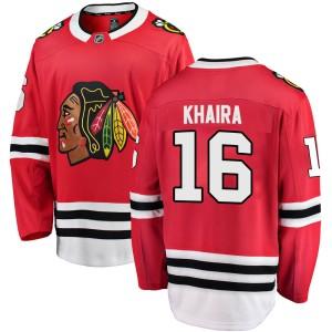 Youth Chicago Blackhawks Jujhar Khaira Fanatics Branded Breakaway Home Jersey - Red