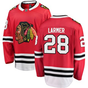 Youth Chicago Blackhawks Steve Larmer Fanatics Branded Breakaway Home Jersey - Red