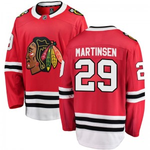 Youth Chicago Blackhawks Andreas Martinsen Fanatics Branded Breakaway Home Jersey - Red