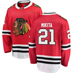 Youth Chicago Blackhawks Stan Mikita Fanatics Branded Breakaway Home Jersey - Red