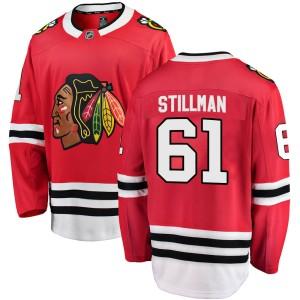 Youth Chicago Blackhawks Riley Stillman Fanatics Branded Breakaway Home Jersey - Red