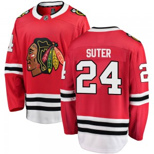Youth Chicago Blackhawks Pius Suter Fanatics Branded Breakaway Home Jersey - Red