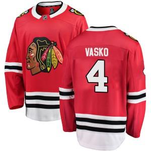 Youth Chicago Blackhawks Elmer Vasko Fanatics Branded Breakaway Home Jersey - Red