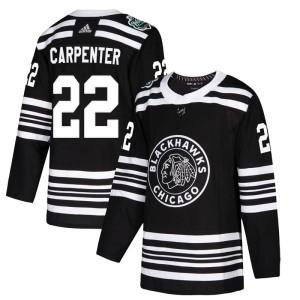 Men's Chicago Blackhawks Ryan Carpenter Adidas Authentic 2019 Winter Classic Jersey - Black